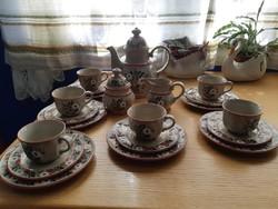 6 személyes kézzel festett kávés,teás készlet