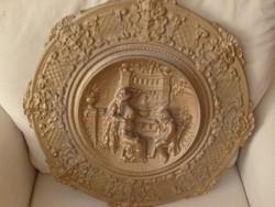 53 cm rokokó jelenetes gyönyörű falidísz kuriózum