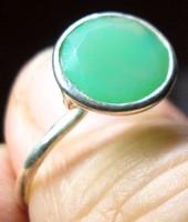 925 ezüst gyűrű krizopráz drágakővel 19,1/60 mm,