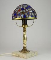 0N653 Tiffany burás kis méretű réz éjjeli lámpa