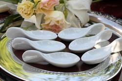 Porcelán fagylaltos ,desszertes kanalak