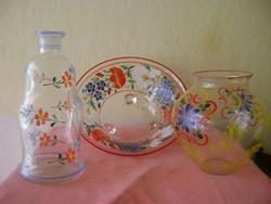 3 db üveg gyűjtemény 100% kézzel készül darabok álomszépek