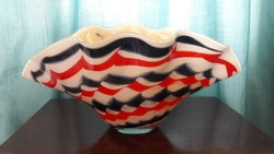 Fantasztikus nagyméretű Retro Francia? üveg váza kaspó
