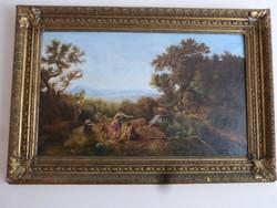 Diána a vadászaton-régi festmény.