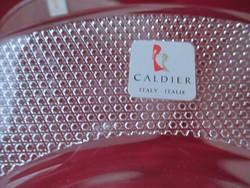116. 4 db mintás üveg lapos tányér 23 cm