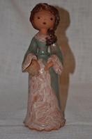 Sződi kerámia lány figura  ( DBZ 0032 )