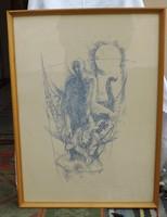 B .Mikli Ferenc tollrajz 50 x 68 cm