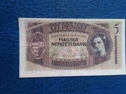 5 Pengő 1938 Elcsúszott nyomat Unikális darab