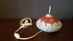 Bodrogkeresztúri kerámia asztali lámpa-1970 körüli retró darab, jeltéssel, hibátlan állapotban