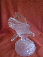 Szépséges üveg szobor sas figura