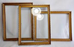 Antik arany fa képkeret , 30 x 24 cm.
