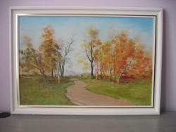 Bertalan Ferenc: Táj ősszel (75 x 50 cm)