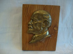 Lenin relikvia rézből íróasztali dísz