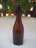 Bécsi sörös üveg  , barna 26,5x7 cm,R. Glazer  II. Erzherzog Carl platz  10.Wien