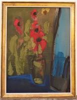 Bényi Árpád (1931-20106) Csendélet c. plextol festménye 86x66cm Eredeti Garanciával !!!