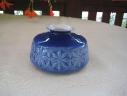 Zsolnay kék  retró  váza  13x8  cm , jelzett ,mint a   képen