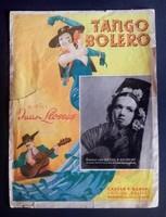 Juan Llossa: Tango bolero, art-deco kotta 1938