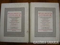 Monumenta Literarum I-II. A világirodalom kisebb remekművei legkiválóbb műfordítóink új fordításaiba