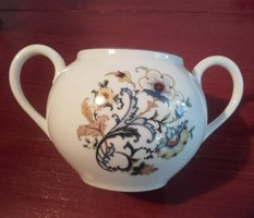 Különösen ritka szecessziós mintájú Zsolnay porcelán cukortartó