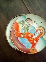 Porcelán tálka, keleti, 2 db