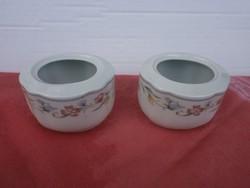 2 db. porcelán gyertyatartó