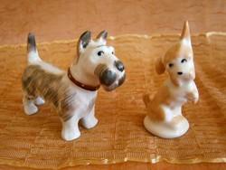 2 db Aquincumi porcelán kutya, kutyus, egyben