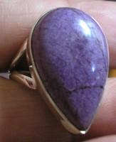 925 ezüst gyűrű, 17,9/56,2 mm, purpurittal