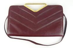 0S286 Régi argentin valódi bőr női táska