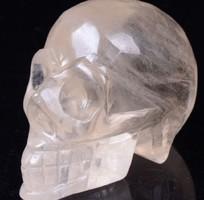 Eredeti citrinből faragott realisztikus koponya 194 gr