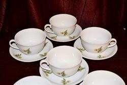 Zsolnay sárga rózsabimbós teás készlet  ( DBZ 004 )