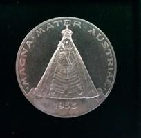 Szép ezüst osztrák emlékérem 1955, 15,2 g.