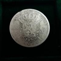 Belgium 2 Frank 1866, ezüst , 9,6 g.