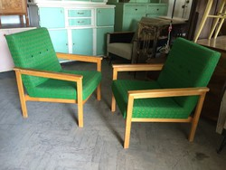 Retro régi fakarfás szék karfás mid century fotel