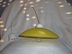Fiatalos mennyezeti sárga üveg függeszték lámpa  30 cm