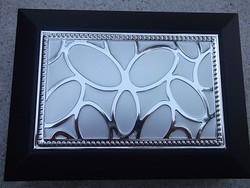 Új Ezüstözött belül tükrös gyönyörű ékszerdoboz-ékszertartó -ajándékba is