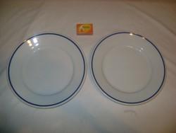 Régi Zsolnay lapos tányér - két darab - hiánypótlásra