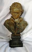 Beethoven terracotta büszt szobor jelzett (Rozel)