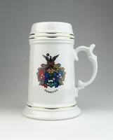 0S017 Hollóházi porcelán söröskorsó DEBRECEN