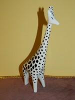 Hollóházi art deco zsiráf sérült.