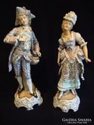 Antik barokk szobor párban
