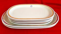 Alföldi ovális csíkos menzai porcelán tányér 6db