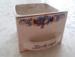 Gránit fűszertartó tarhonya tartó virágos vintage kredenc fiók