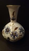 Zsolnay búzavirágos váza, hibátlan