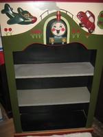 Thomas figurás faragott kézműves gyermekbútor!