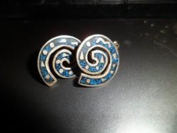 Egyedi tervezésű ezüst fülbevaló/ lazuli