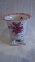 Régi Herendi  porcelán Apponyi 1944' körmös váza