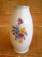 Nagyon szép 12 cm-es Hollóházi virág csokros porcelán váza