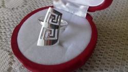 Görög mintás 925 ezüst gyűrű 57-es 18,1