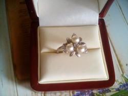 Antik csodás szecessziós stílusú ezüst gyűrű