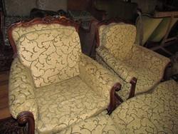 Barokk szalon3-as+ 2 db fotel